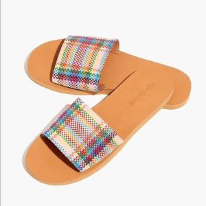 Madewell colorful slide sandals NWT